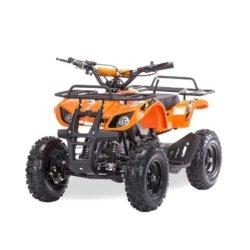 Квадроцикл детский бензиновый MOTAX ATV Х-16 Мини-Гризли с электростартером и пультом оранжевый (пульт, задний привод, до 45 км/ч)