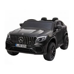 Электромобиль Mercedes-Benz AMG GLC63 2.0 Coupe 4X4 черный (колеса резина, кресло кожа, пульт, музыка)